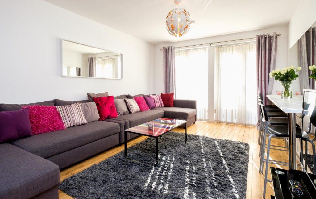 Spacious Lounge with Large Sofa